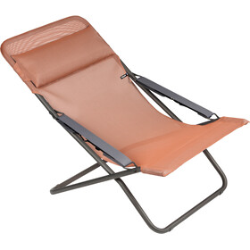 Lafuma Mobilier Transabed Sun Lounger with Cannage Phifertex terracotta